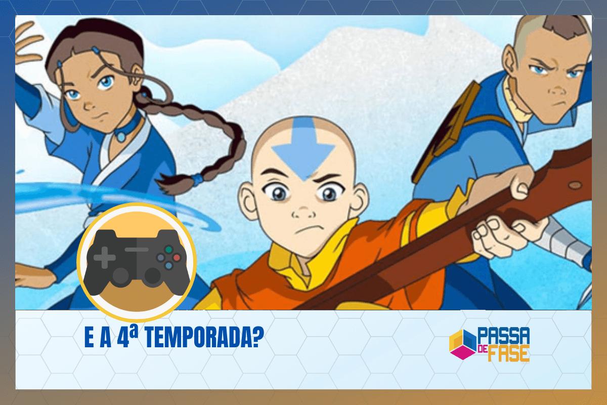 Avatar a Lenda de Aang: 4ª Temporada?