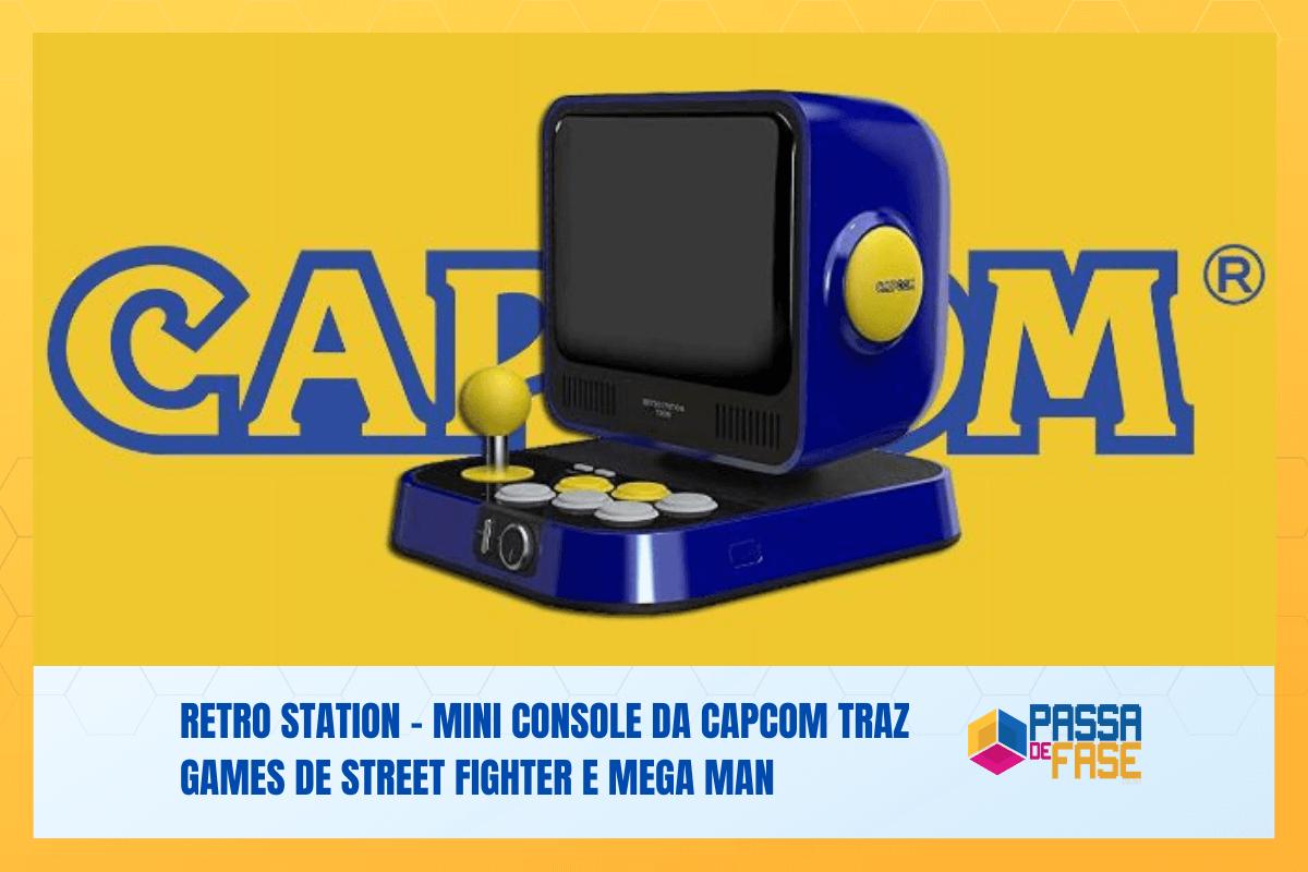 Retro Station – Mini console da Capcom traz games de Street Fighter e Mega Man