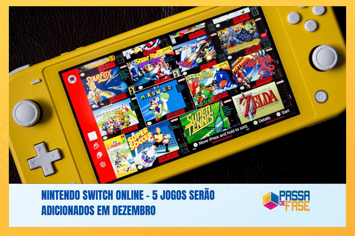 Nintendo Switch Online – 5 jogos serão adicionados em dezembro