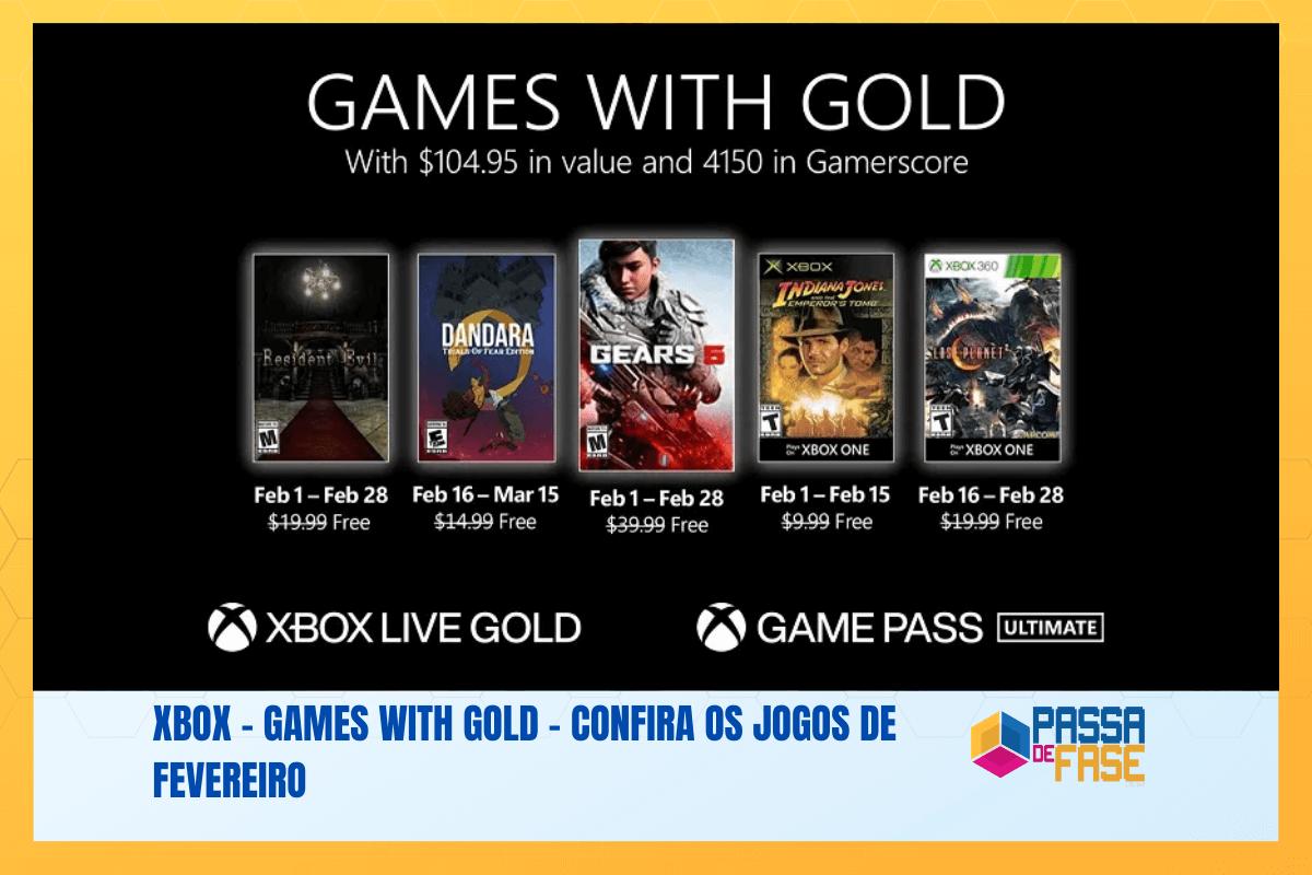 Xbox – Games with Gold – Confira os jogos de fevereiro